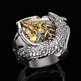 Кольцо серебряное Георгий Победоносец КЦ-140 Б, фото 4