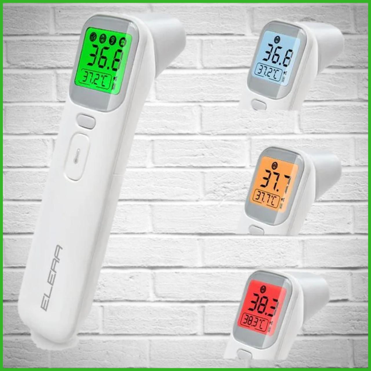 Безконтактний інфрачервоний термометр градусник Elera 20A (Білий)