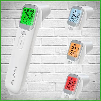 Безконтактний інфрачервоний термометр градусник Elera 20A (Білий), фото 2
