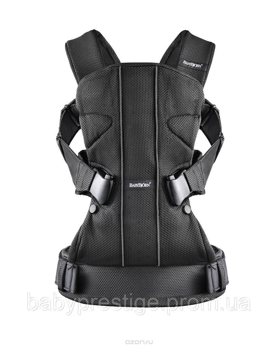 Многофункциональный рюкзак для переноски детей BABYBJORN Baby Carrier ONE Mesh, Black