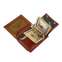 Зажим-портмоне для купюр из натуральной кожи Desisan t100/5 коричневый