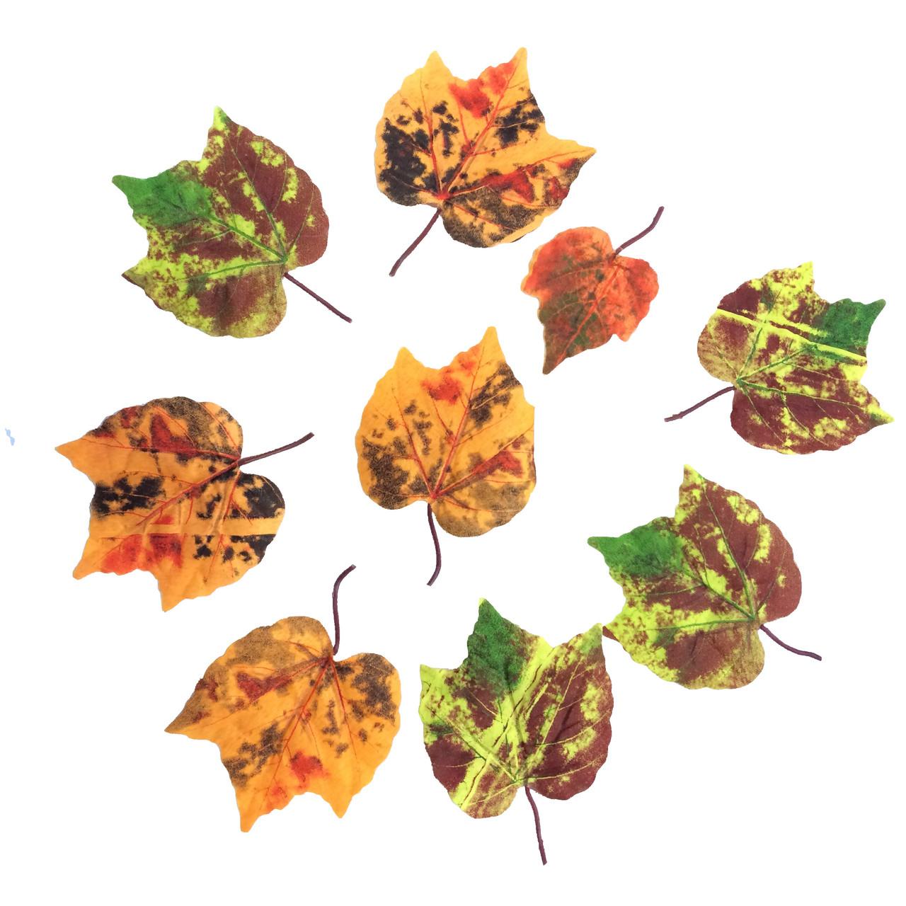 Листья калины осенние (50 шт. в уп.)
