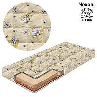 Матрас кокос-поролон-гречка-хлопок 1 Беби-Текс-Бджолы и мишка бежевый SKL11-221156