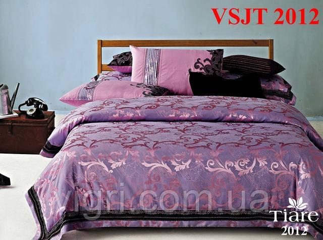 Постельное белье семейное, сатин жаккард Tiare Вилюта. VSJT 2012