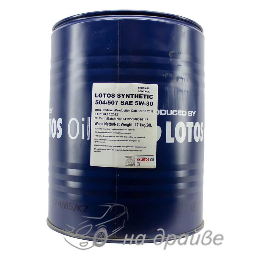 Масло моторное SYNTHETIC 504/507 5W-30 20 л Lotos Oil