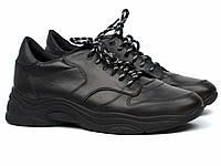 Чоловічі чорні кросівки шкіряні взуття демісезонне Rosso Avangard Black Panther, фото 1