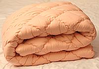 Теплое одеяло полуторное 150х210 (микрофибра/холлофайбер) стёганое (5041)