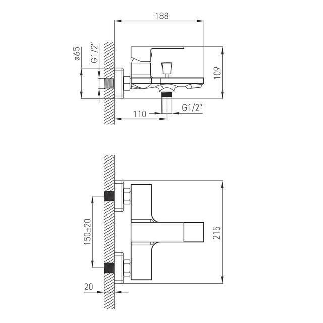 Змішувач для ванної Volle Benita 15172100