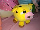 Мягкие игрушки майнкрафт Кот Оцелот,Свинка или Грибная корова, фото 2