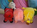 Мягкие игрушки майнкрафт Кот Оцелот,Свинка или Грибная корова, фото 3