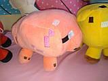 Мягкие игрушки майнкрафт Кот Оцелот,Свинка или Грибная корова, фото 4
