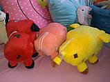 Мягкие игрушки майнкрафт Кот Оцелот,Свинка или Грибная корова, фото 5