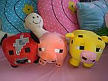 Мягкие игрушки майнкрафт Кот Оцелот,Свинка или Грибная корова, фото 6