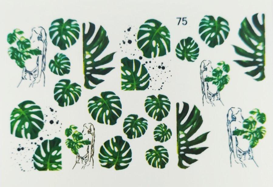 Водные наклейки (слайдер дизайн) для ногтей 75
