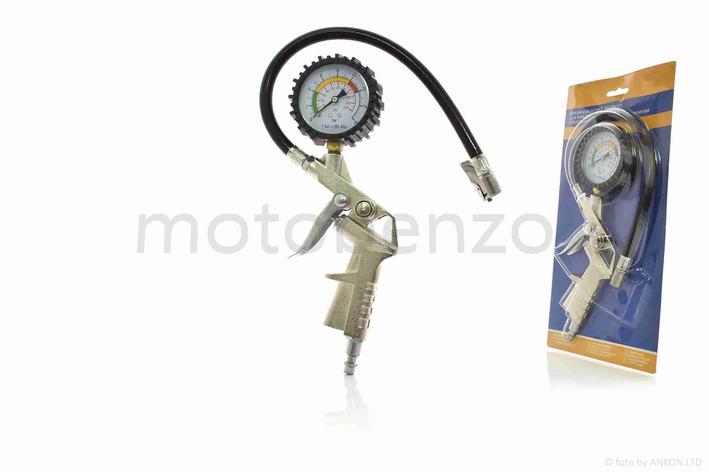 Пистолет для подкачки колес с манометром пневматический, фото 2