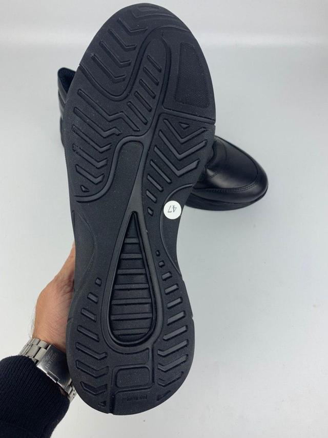 Шкіряні чорні кросівки снікерси чоловічі Rosso Avangard Black Panther