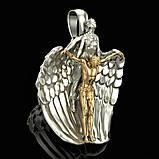 Подвеска серебряная Ангел Хранитель ПС-139 Б, фото 4