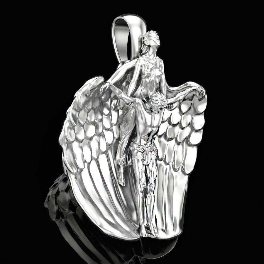 Подвеска серебряная Ангел Хранитель ПС-139 Б