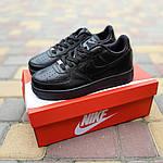 Жіночі кросівки Nike Air Force (чорні) 20238, фото 4