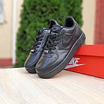 Жіночі кросівки Nike Air Force (чорні) 20238, фото 6