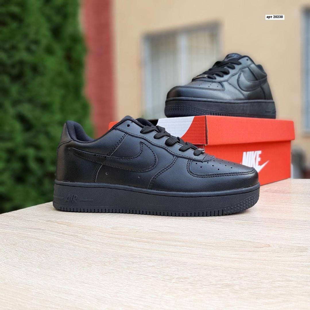 Жіночі кросівки Nike Air Force (чорні) 20238