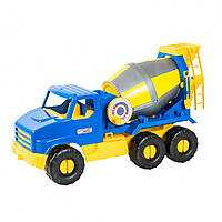 """Бетономешалка большая игрушечная, барабан вращается, длина машинки 44 см, """"City Truck"""" 39395"""