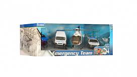 Набор полицейского транспорта, 2 машинки и вертолет, 22172