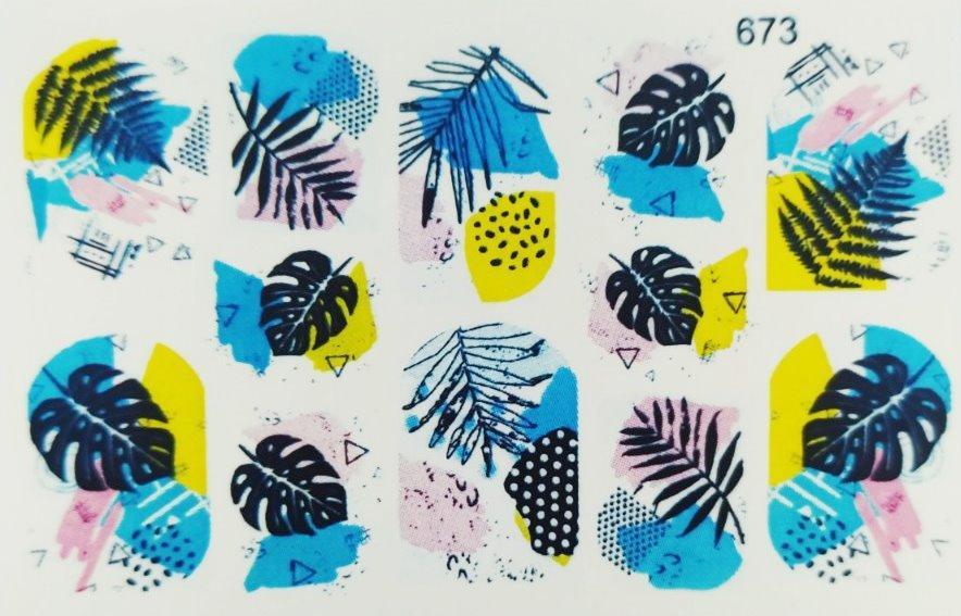 Водные наклейки (слайдер дизайн) для ногтей 673