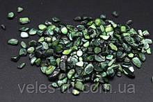 Камінчики ЗЕЛЕНИЙ Перламутр дрібний дроблений 50 гр.