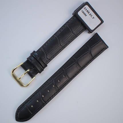 18 мм Кожаный Ремешок для часов CONDOR 514L.18.01 Черный Ремешок на часы из Натуральной кожи удлиненный, фото 2