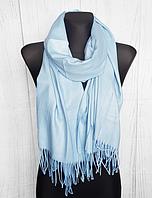 Однотонный палантин Мариана 185*70 светло-голубой 1802-22, фото 1