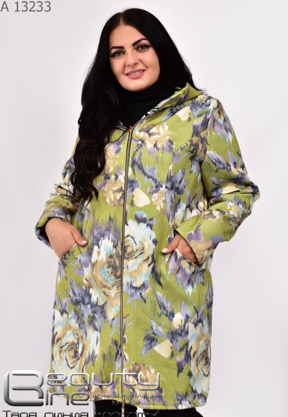 Демисезонное женское пальто кашемир Украина Размеры: 54.56.58.60.62.64.