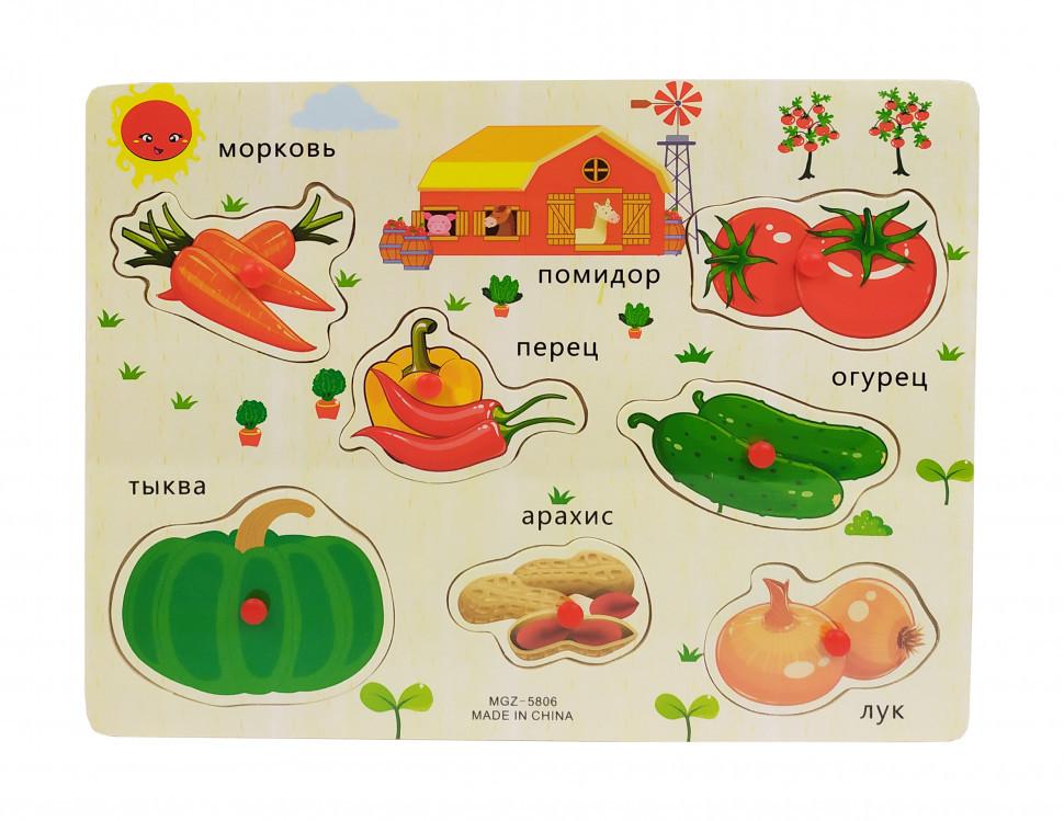 Деревянная игрушка Рамка-вкладыш MD 2161 Овощи