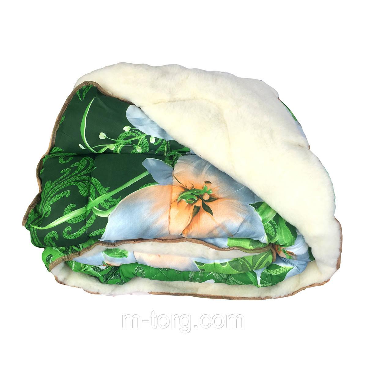 Недороге вовняне полуторна ковдру з хутром 145/215, тканина полікотон