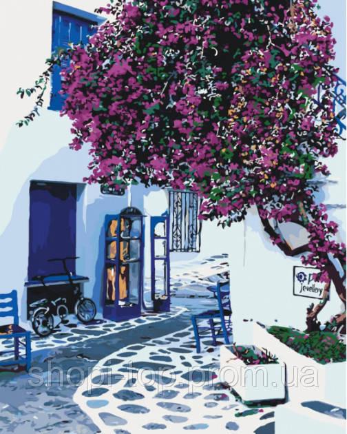 Картина по номерам Солнечная Греция (KH2168) 40 х 50 см Идейка