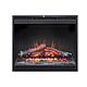 Каминокомплект IDaMebel Dallas White Symphony DF2624 эффект мерцающих дров и пламени Optiflame, фото 4