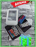 Цветной магнитный конструктор шарики+ палочки ( 65 шт) , игрушка головоломка в кейсе+ подарок