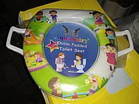 Накладка вставка детская сиденье для унитаза мягкая Украина Aqua Fairy с ручками дети, фото 1