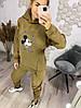 Р. 42-52 Женский спортивный костюм на флисе Микки Маус кофе с молоком, фото 4