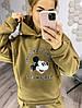 Р. 42-52 Женский спортивный костюм на флисе Микки Маус кофе с молоком, фото 8