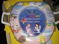 Накладка вставка детская сиденье для унитаза мягкая Украина Aqua Fairy с ручками лисенок, фото 1