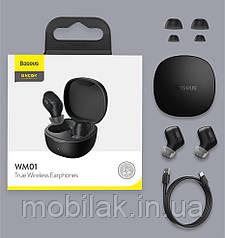 Беспроводные наушники. Baseus WM01 TWS Bluetooth
