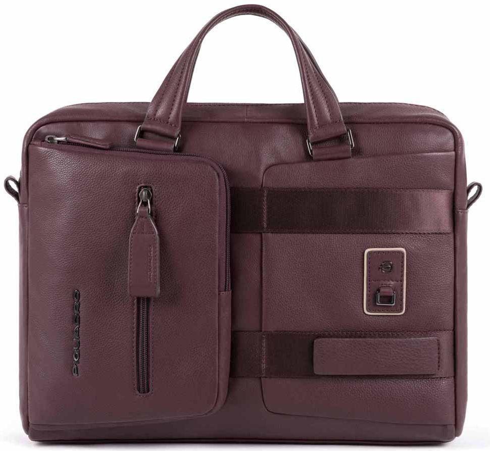 Кожаный портфель Piquadro Dioniso бордовый