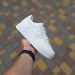 Чоловічі кросівки Nike Air Force (білі) 10308, фото 5