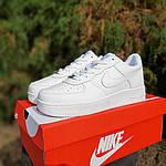 Чоловічі кросівки Nike Air Force (білі) 10308, фото 8