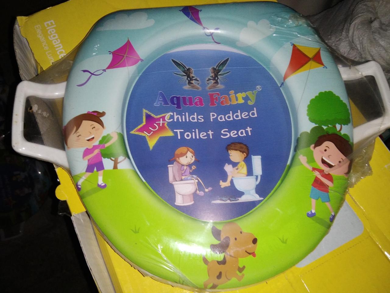 Накладка вставка детская сиденье для унитаза мягкая Украина Aqua Fairy с ручками  воздушный змей