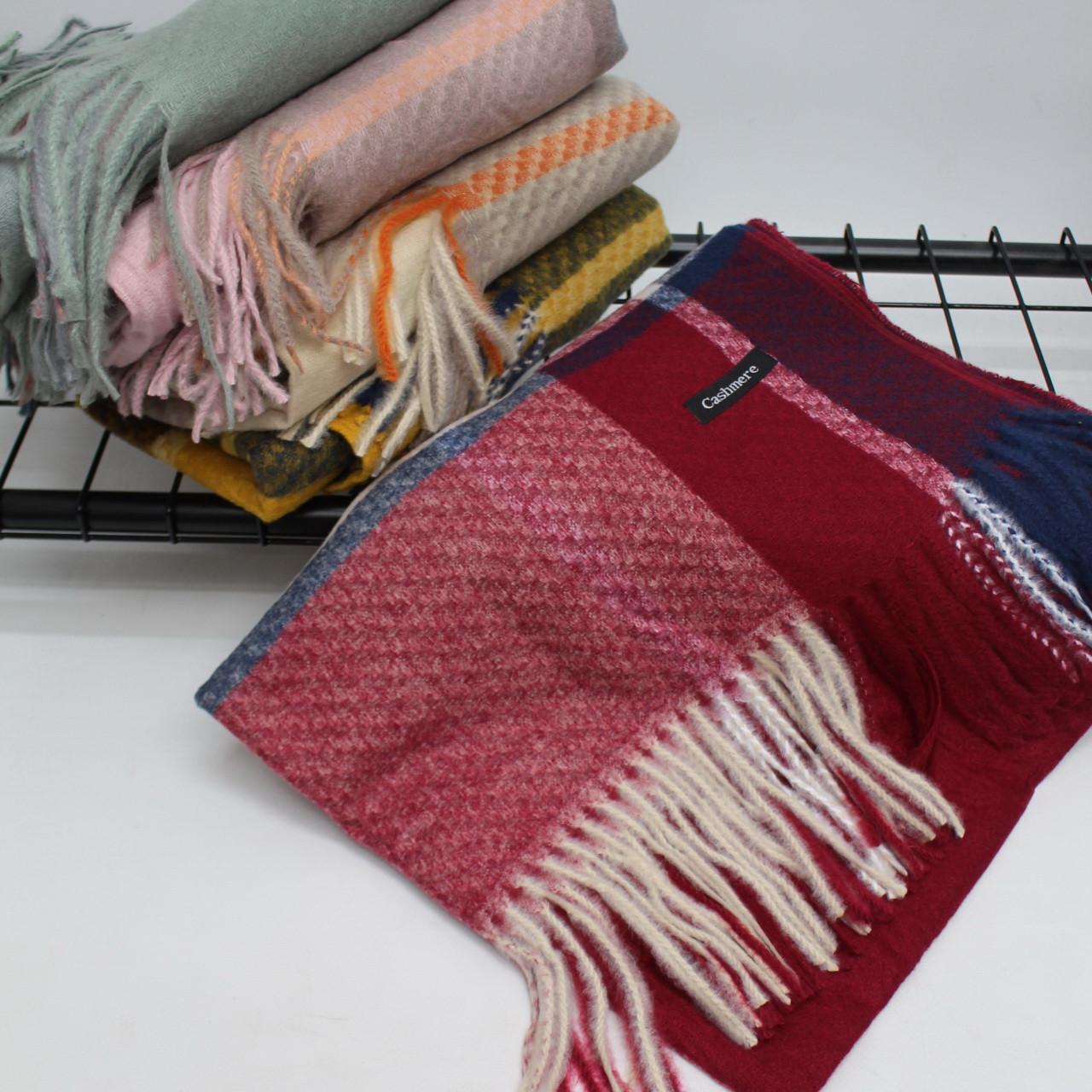 Кашемировый теплый шарф палантин  Cashmere 128005
