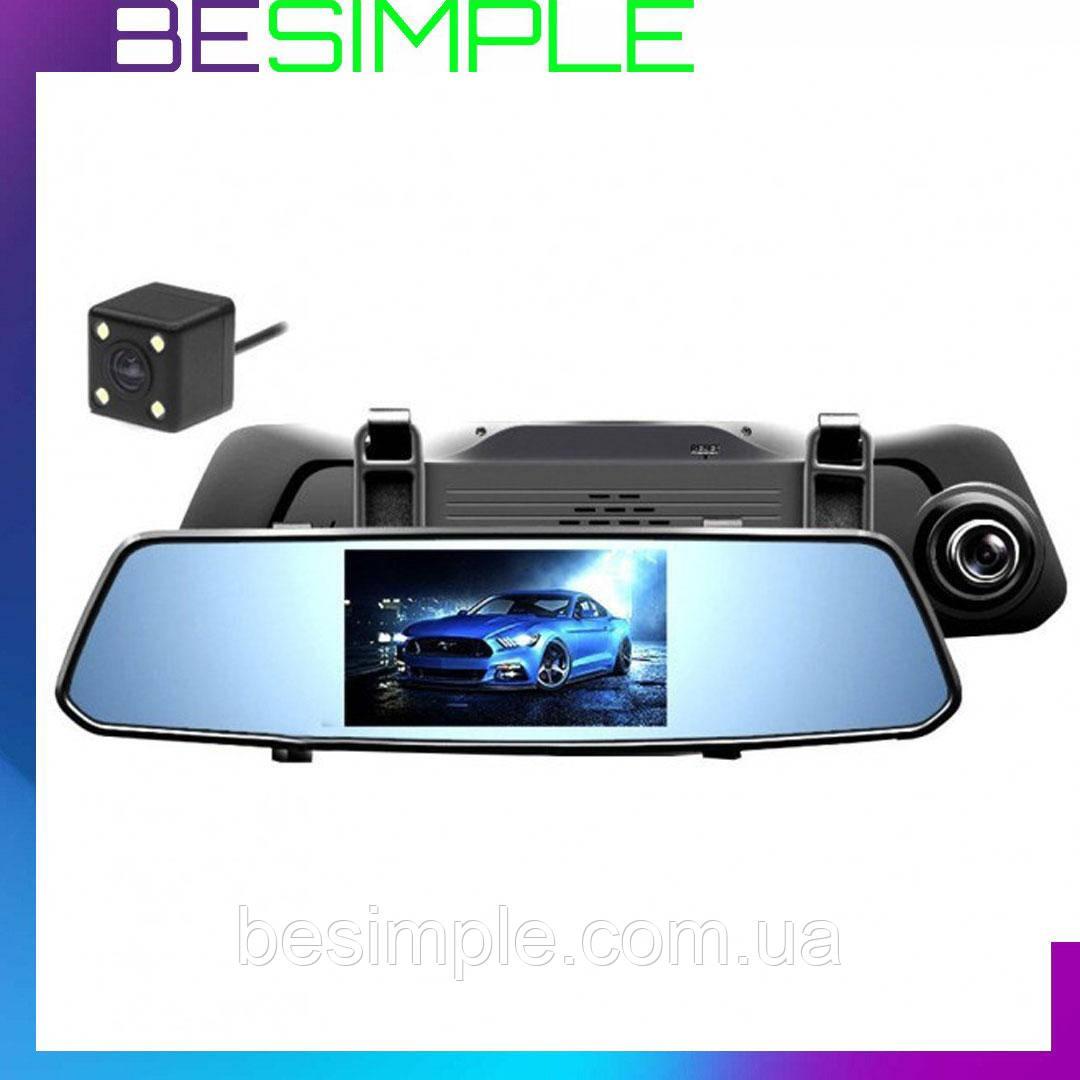 Видеорегистратор DVR зеркало  на три камеры 5'' + touch C33 / Автомобильный видеорегистратор