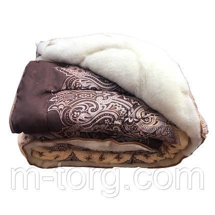 Недороге вовняне полуторна ковдру з хутром 145/215, тканина полікотон, фото 2
