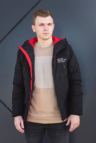 Термокуртка демосизонная мужская черная Glo-Story, фото 2